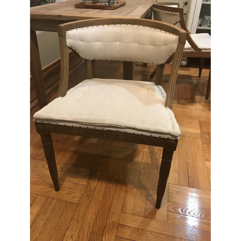 Restoration Hardware Swedish Demi-Lune Dining Chairs-0