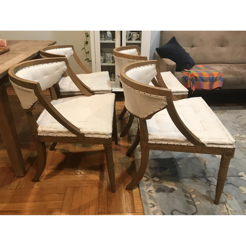 Restoration Hardware Swedish Demi-Lune Dining Chairs-4