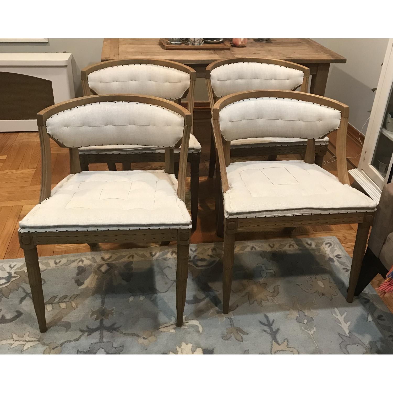 Restoration Hardware Swedish Demi-Lune Dining Chairs-8