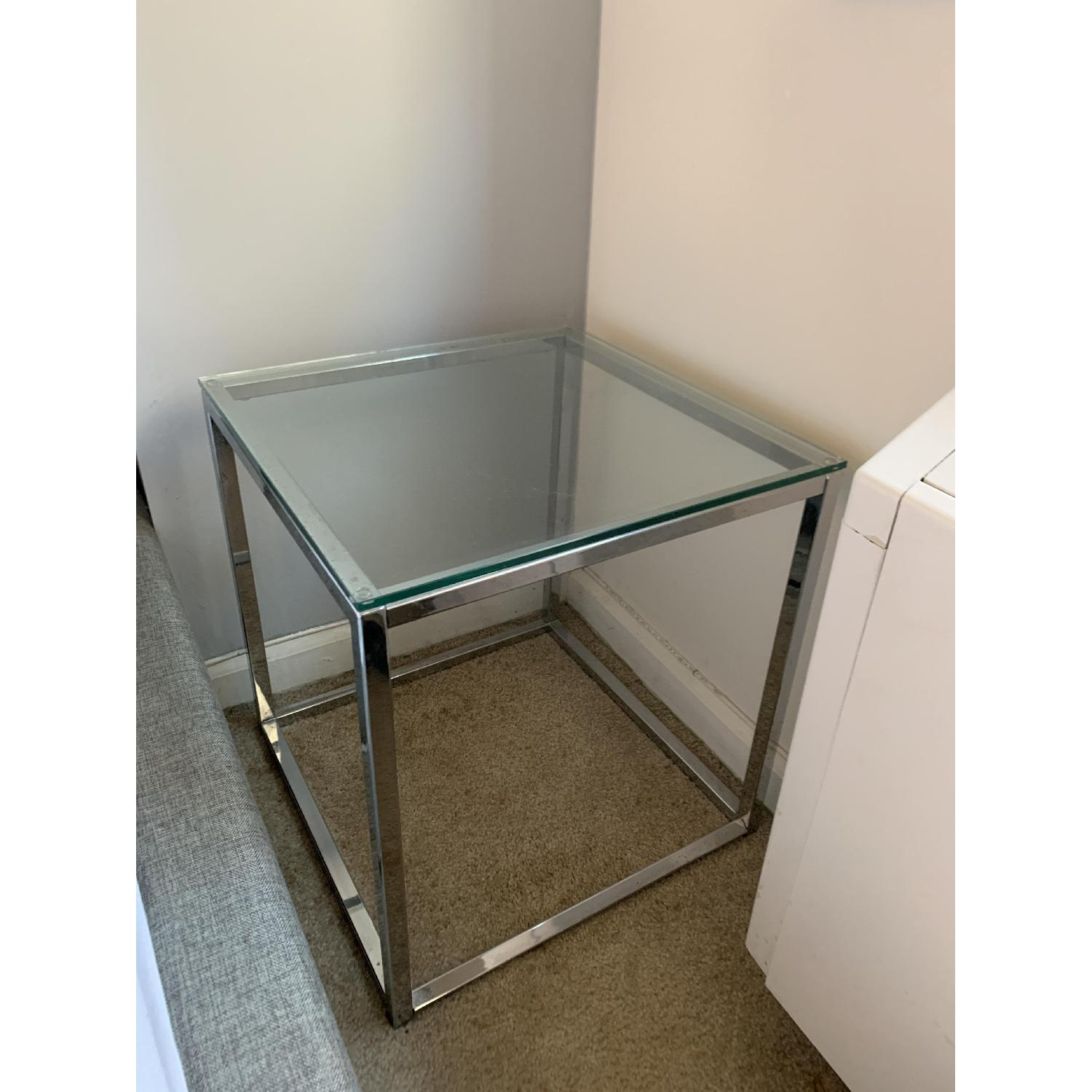 CB2 Smart Glass Top End Table-0