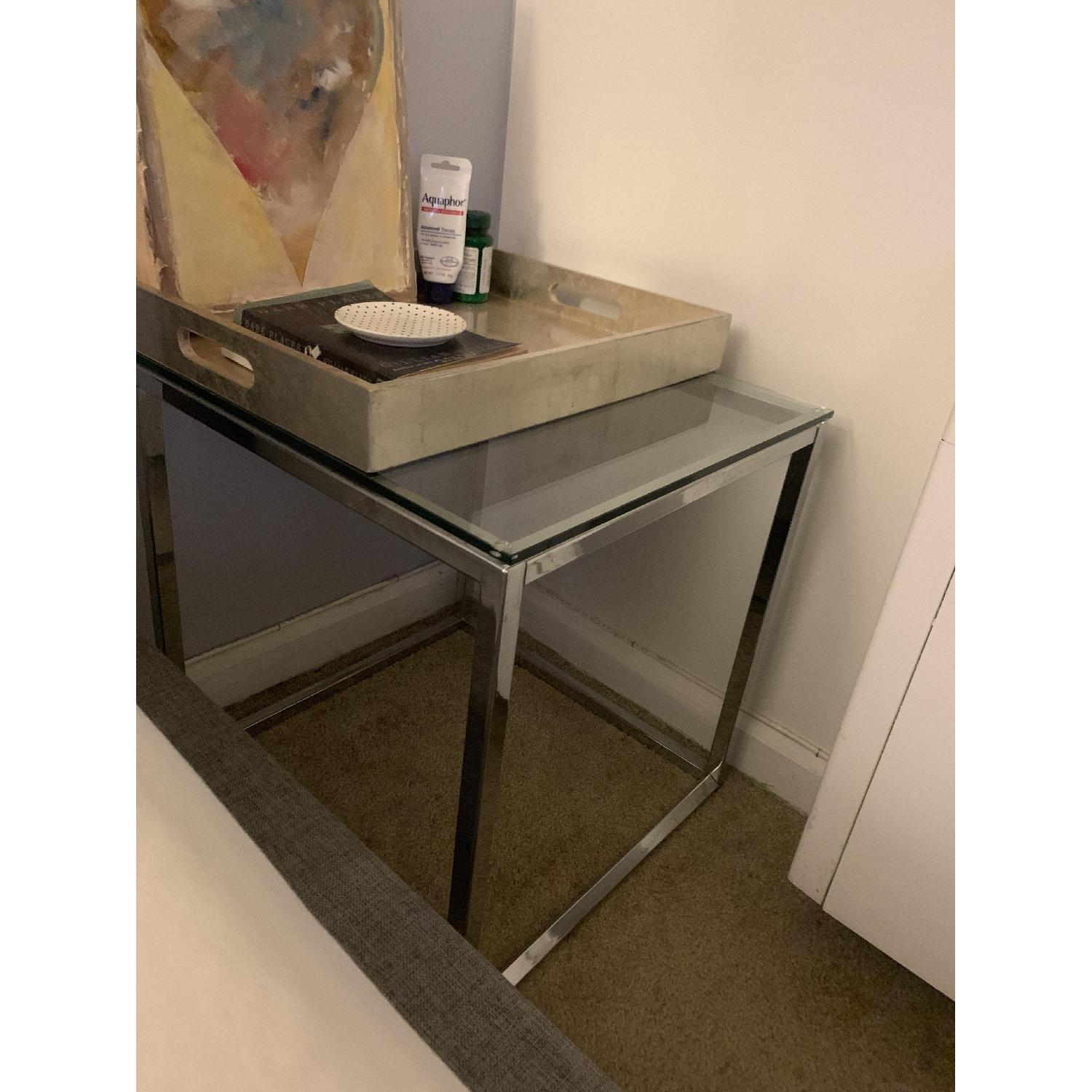 CB2 Smart Glass Top End Table-1