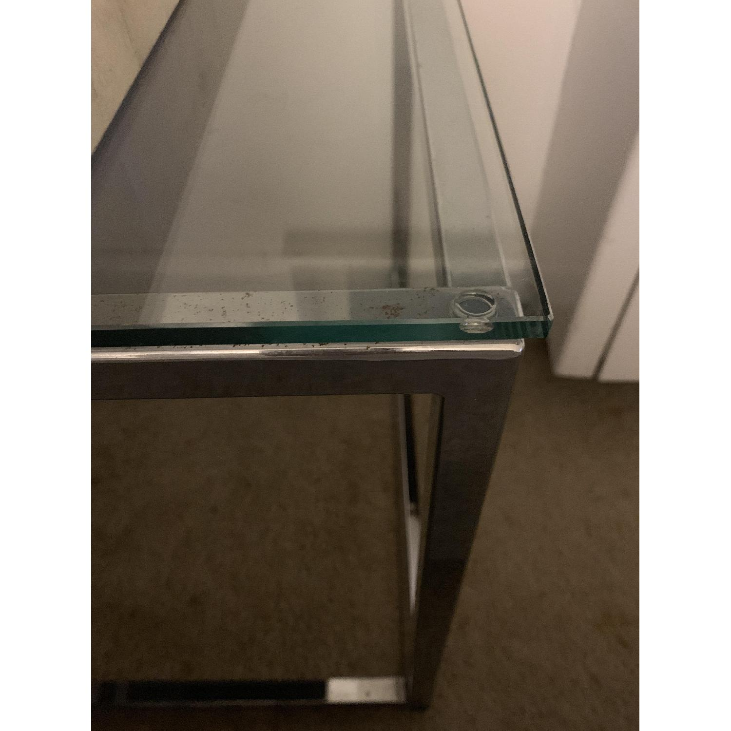 CB2 Smart Glass Top End Table-2