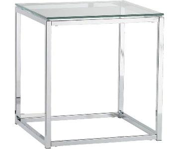 CB2 Smart Glass Top End Table