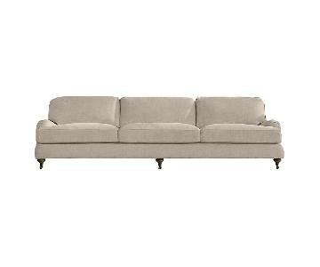 Restoration Hardware English Roll Arm Sofa in Sand Linen