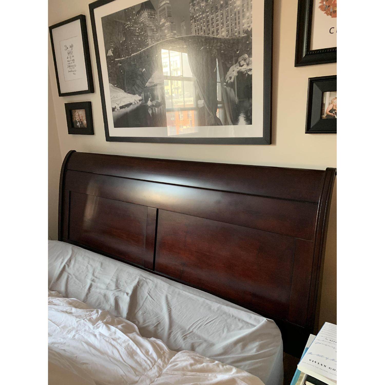 Macy's Sleigh Bed in Mahogany-1