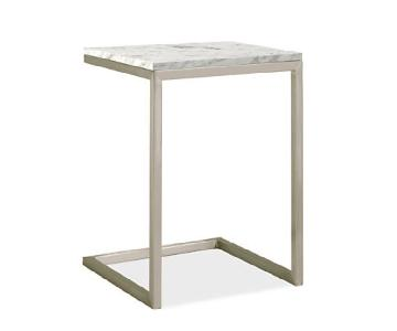Room & Board Portica Marble Stainless Steel Side Table