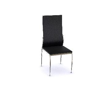 Silver Orchid Bejo Black Faux Leather Dining Chairs
