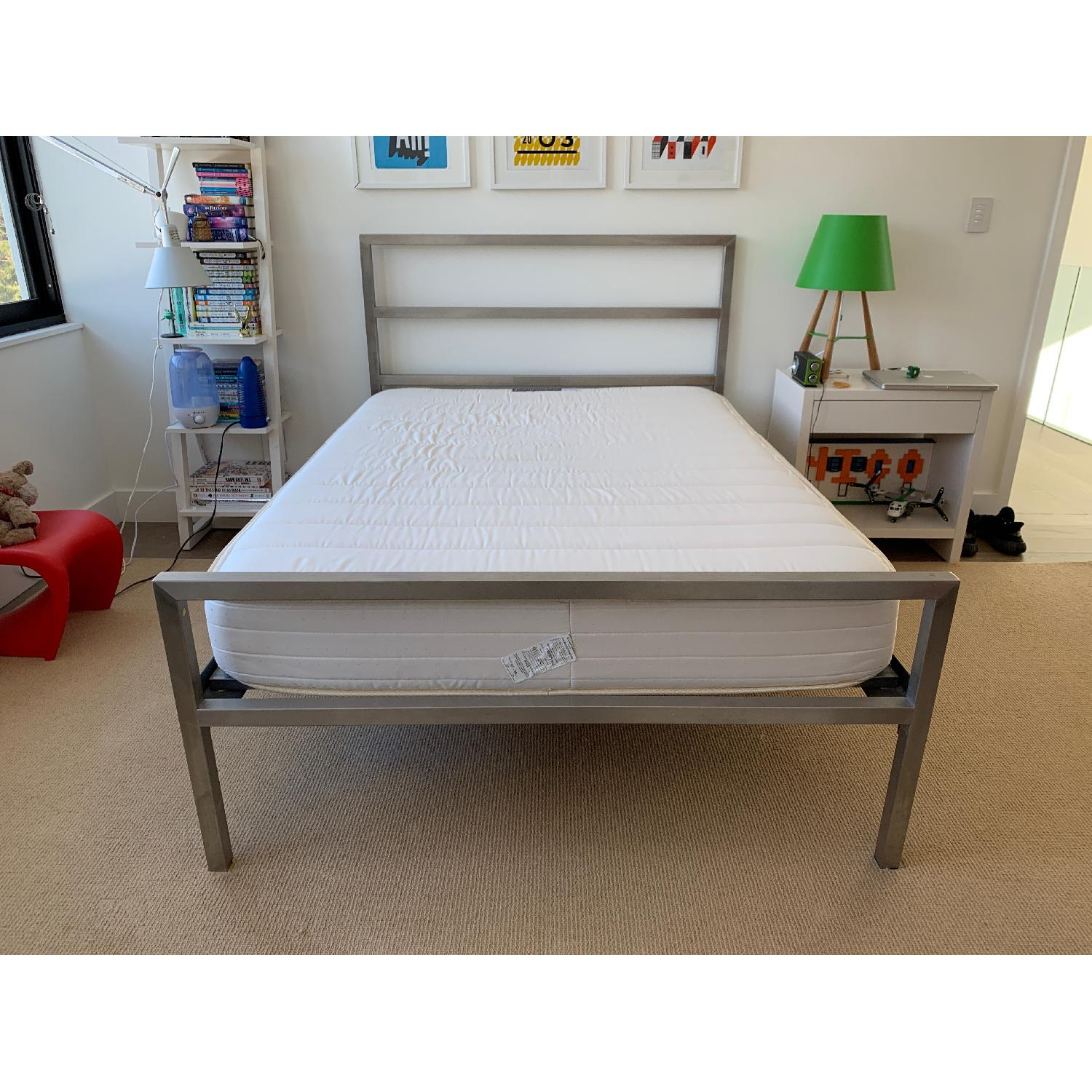 Room & Board Portica Stainless Steel Bed-0