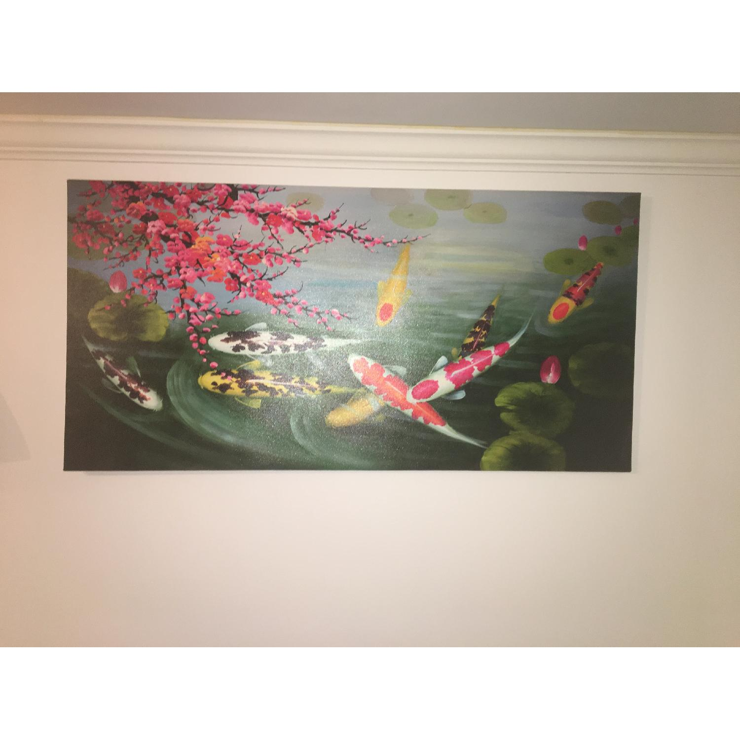 Japanese Koi Fishes Canvas Painting-1