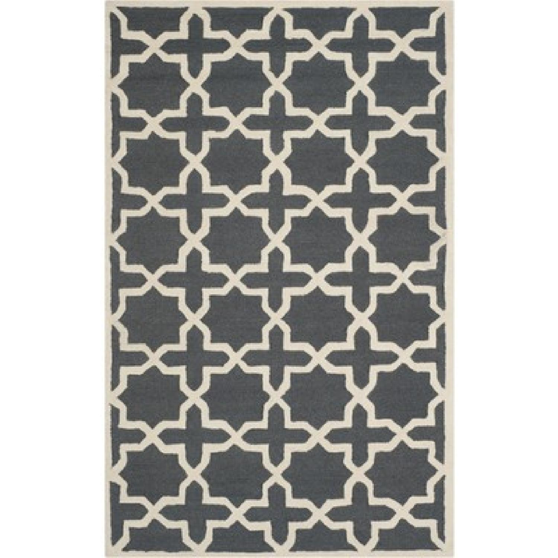 Safavieh Cambridge Moroccan Area Rug in Dark Gray/Ivory