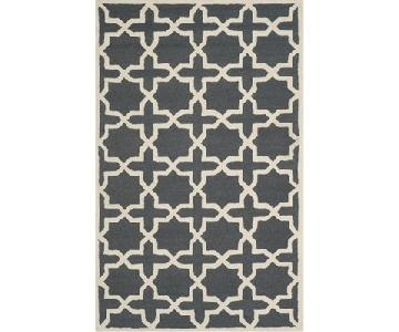 Safavieh Cambridge Moroccan Area Rug in Dark Gray/Ivory