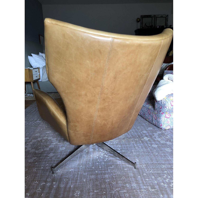 West Elm Hemming Leather Armchair & Ottoman-4