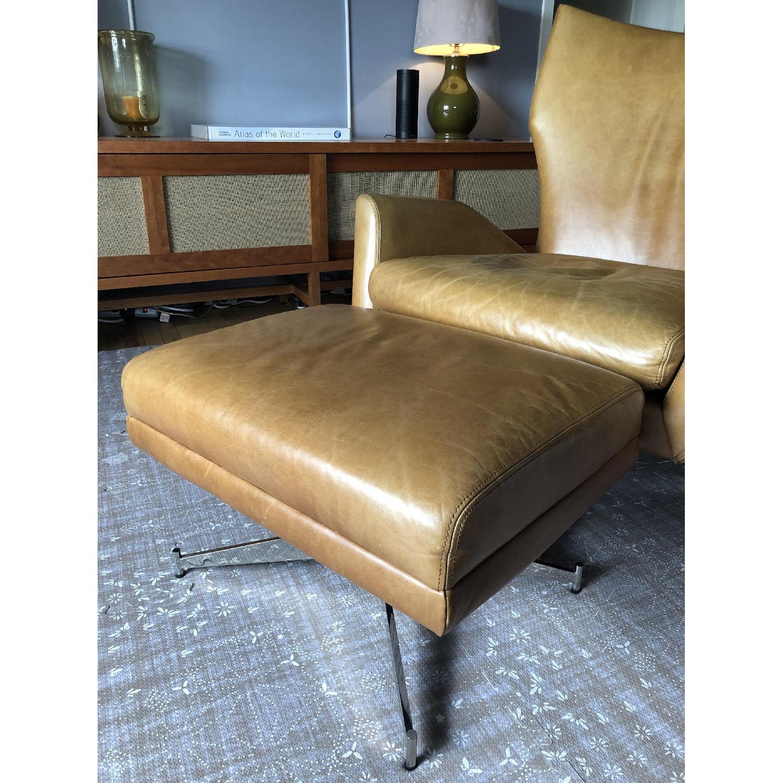 West Elm Hemming Leather Armchair & Ottoman-7