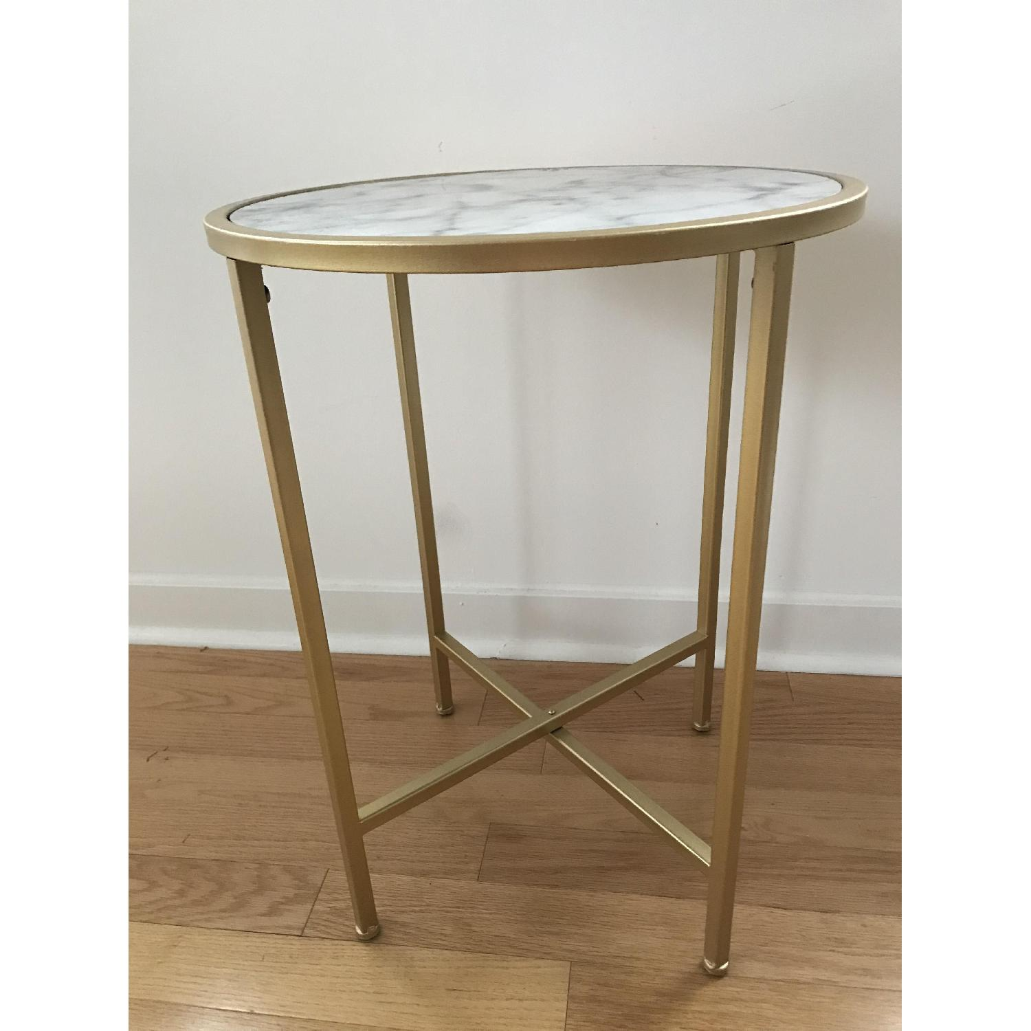Johar Furniture Gold Coast Faux Marble Round End Tables-0