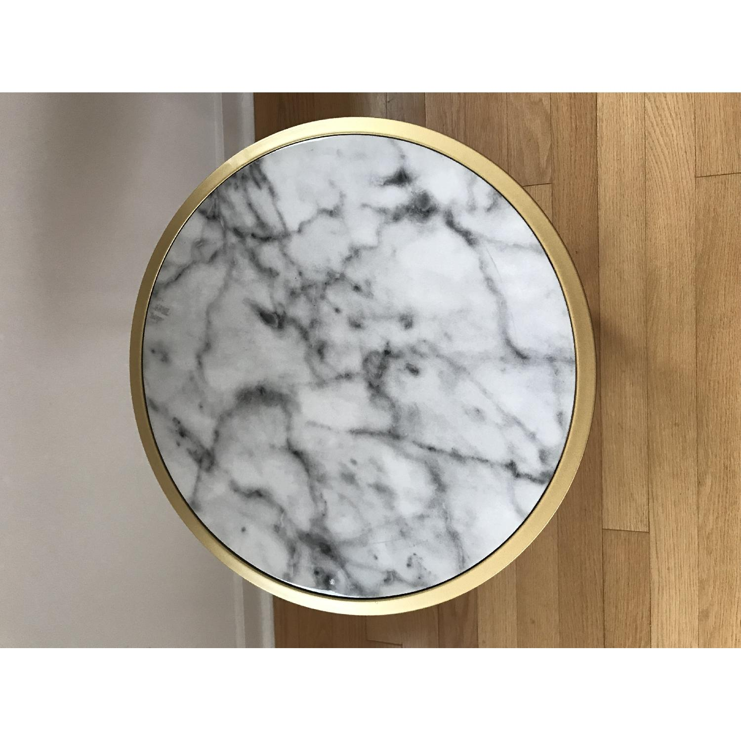 Johar Furniture Gold Coast Faux Marble Round End Tables-1