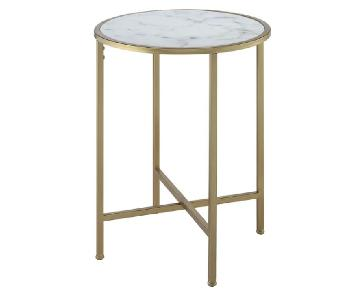 Johar Furniture Gold Coast Faux Marble Round End Tables