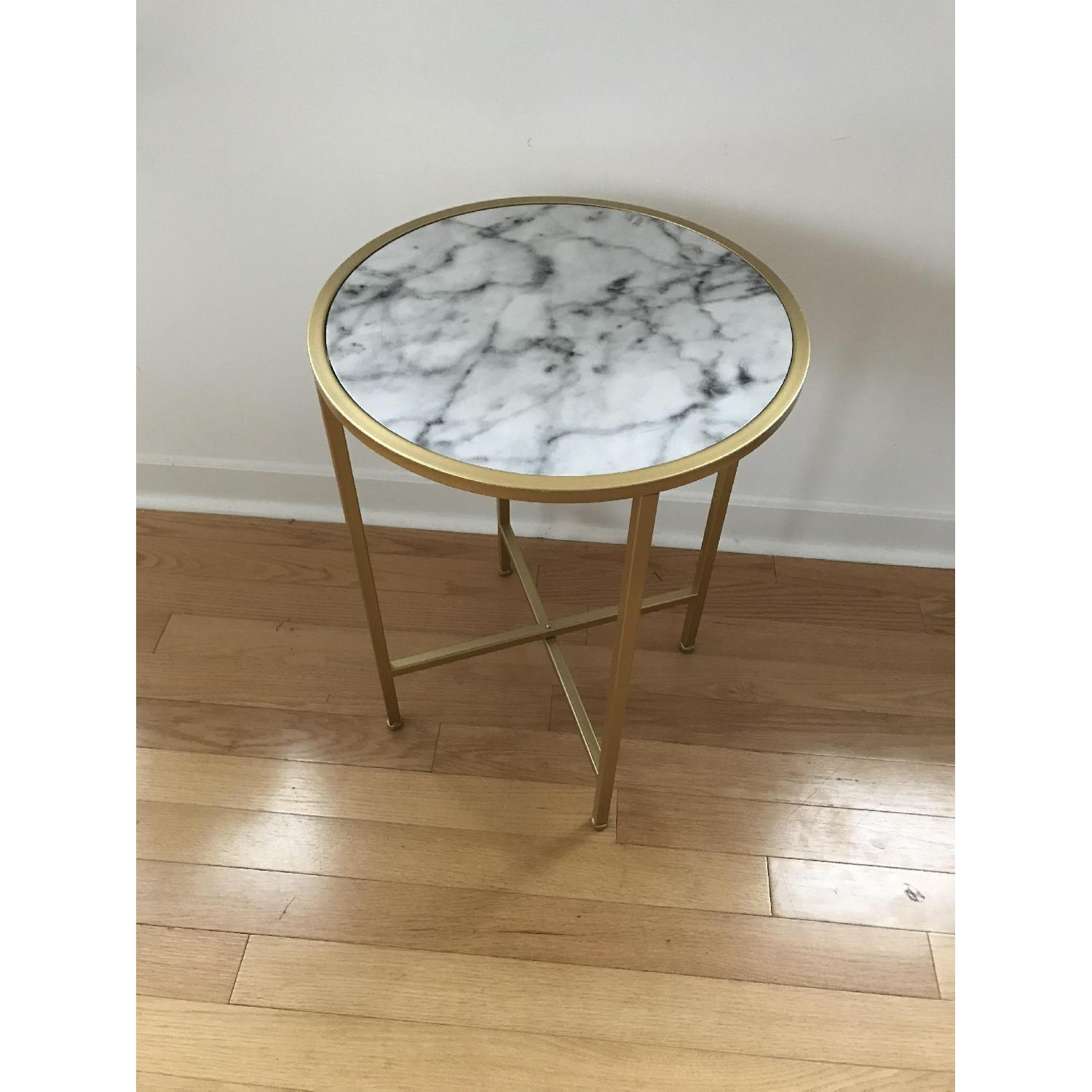 Johar Furniture Gold Coast Faux Marble Round End Tables-2