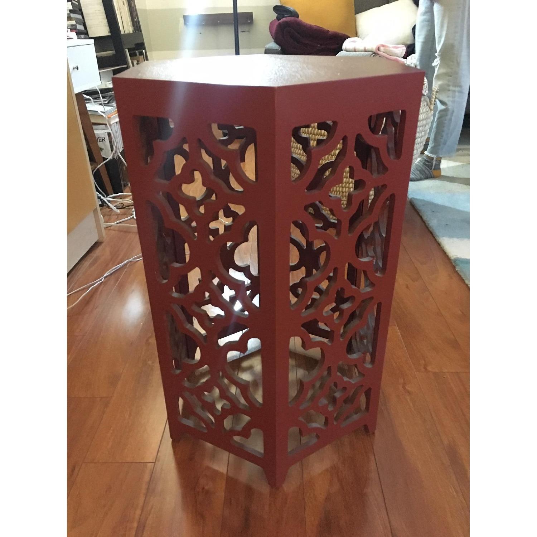 Flower Hexagonal Side Table-0