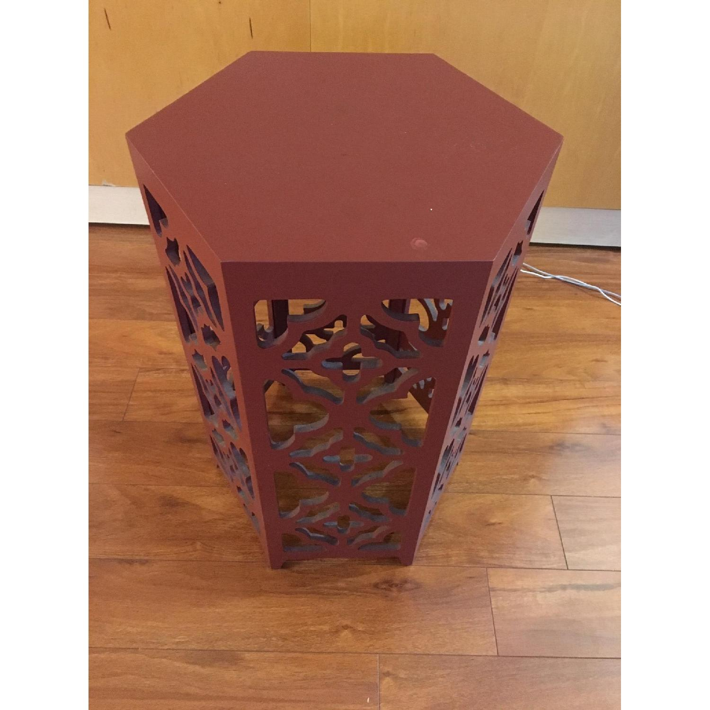 Flower Hexagonal Side Table-2