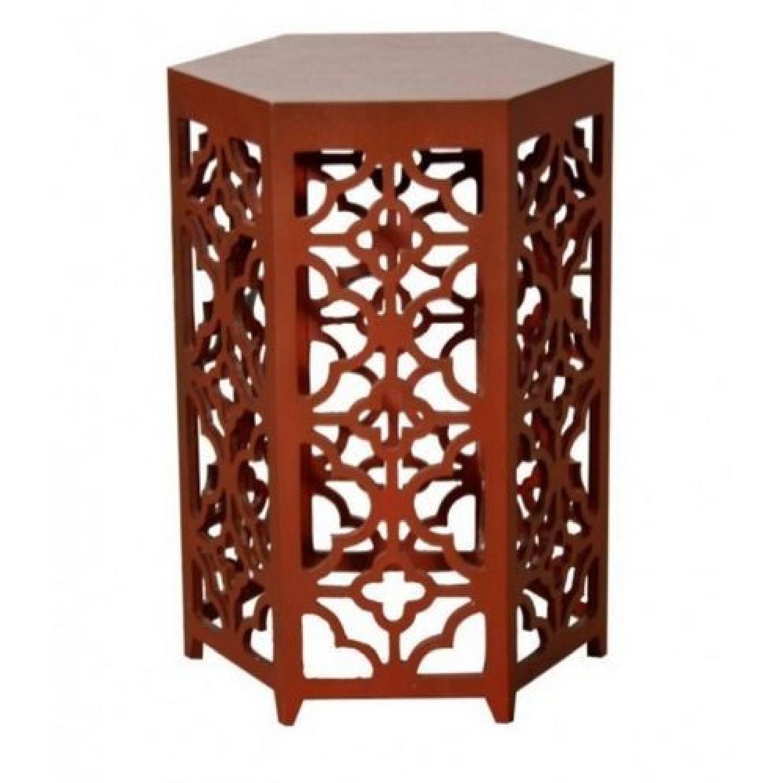 Flower Hexagonal Side Table