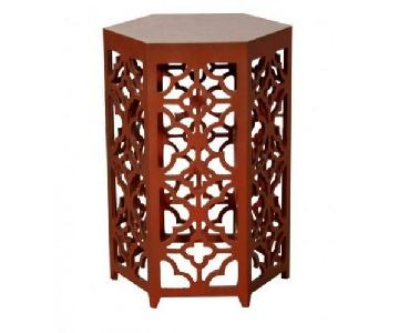 Flower Hexagonal Side Table