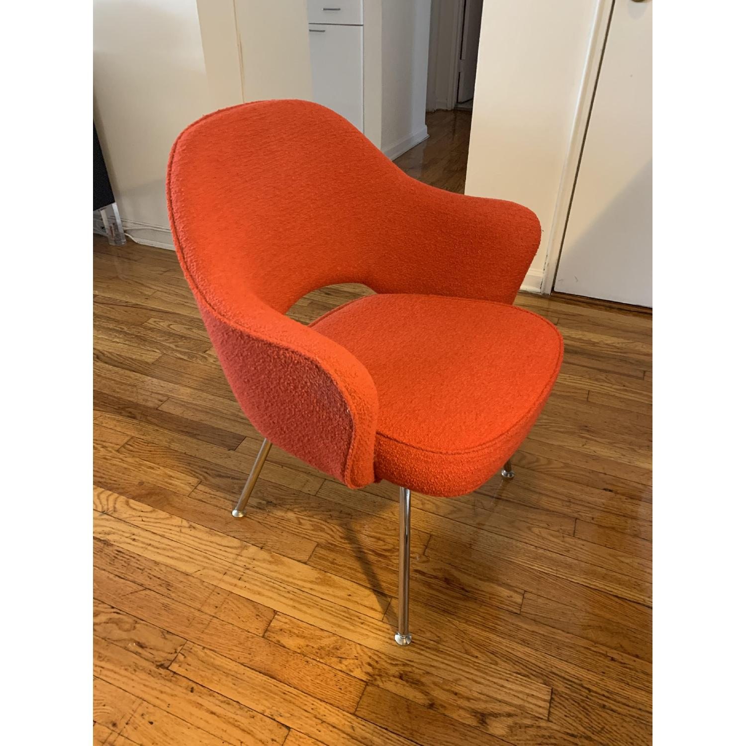 Knoll Saarinen Executive Chair in Red/Burnt Orange-0
