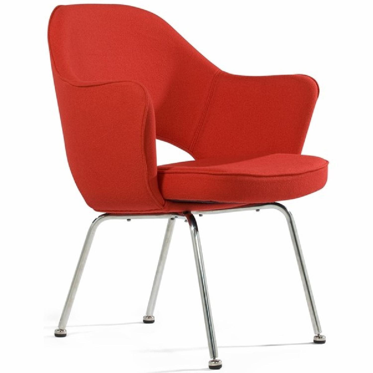 Knoll Saarinen Executive Chair in Red/Burnt Orange