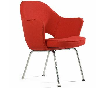 Knoll Saarinen Executive Chair in Red/Burnt Orange