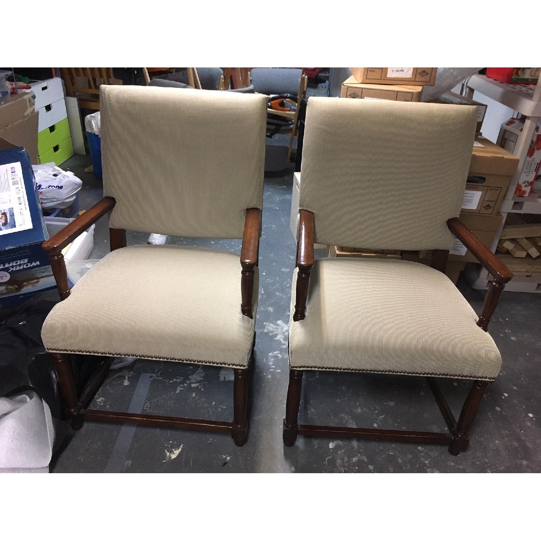Restoration Hardware Empire Parsons Fabric Armchairs-0