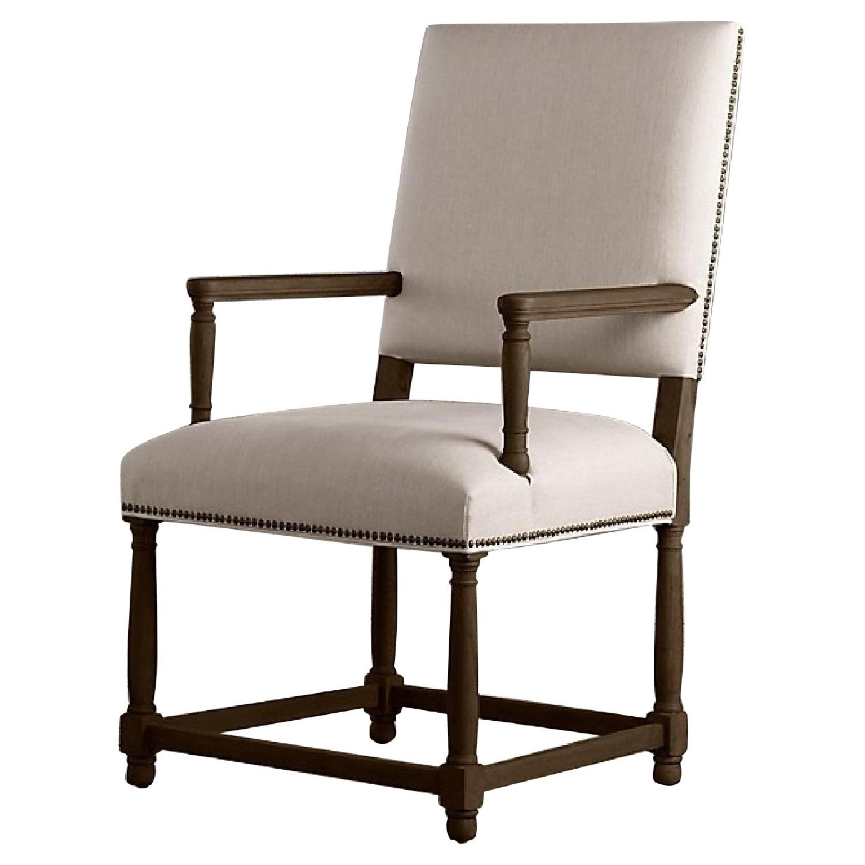 Restoration Hardware Empire Parsons Fabric Armchairs