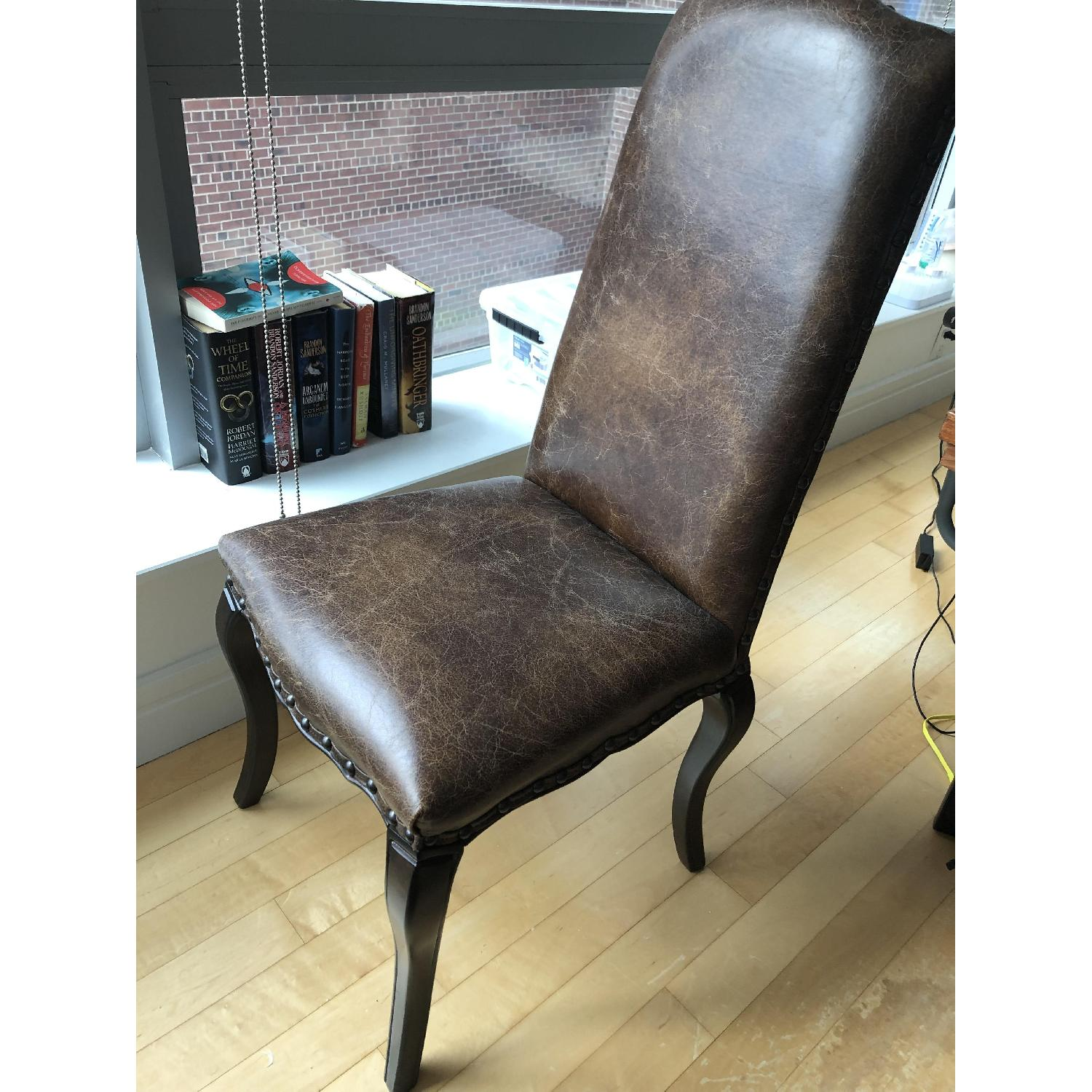 Pottery Barn Calais Leather Dining Chairs-0