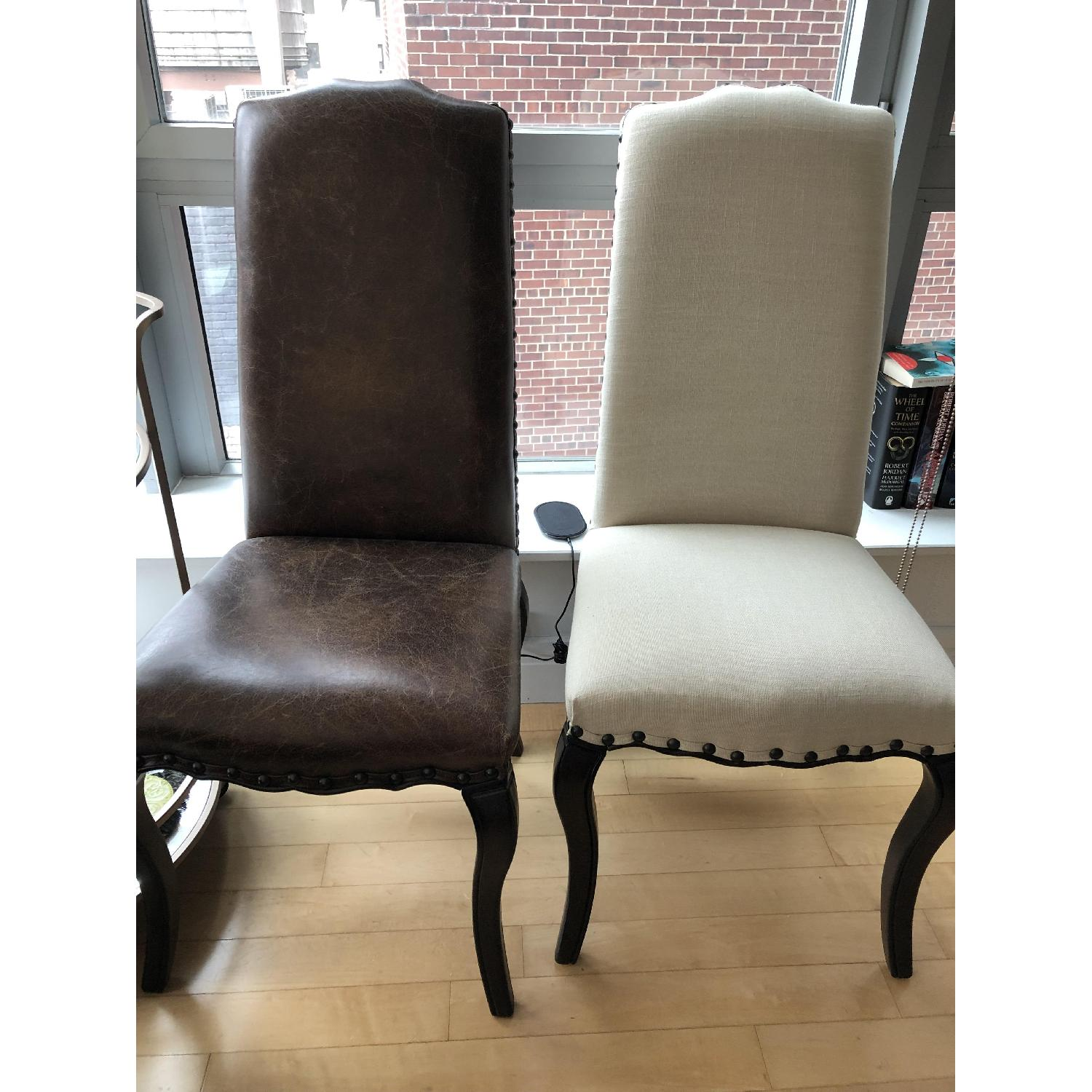Pottery Barn Calais Leather Dining Chairs-2