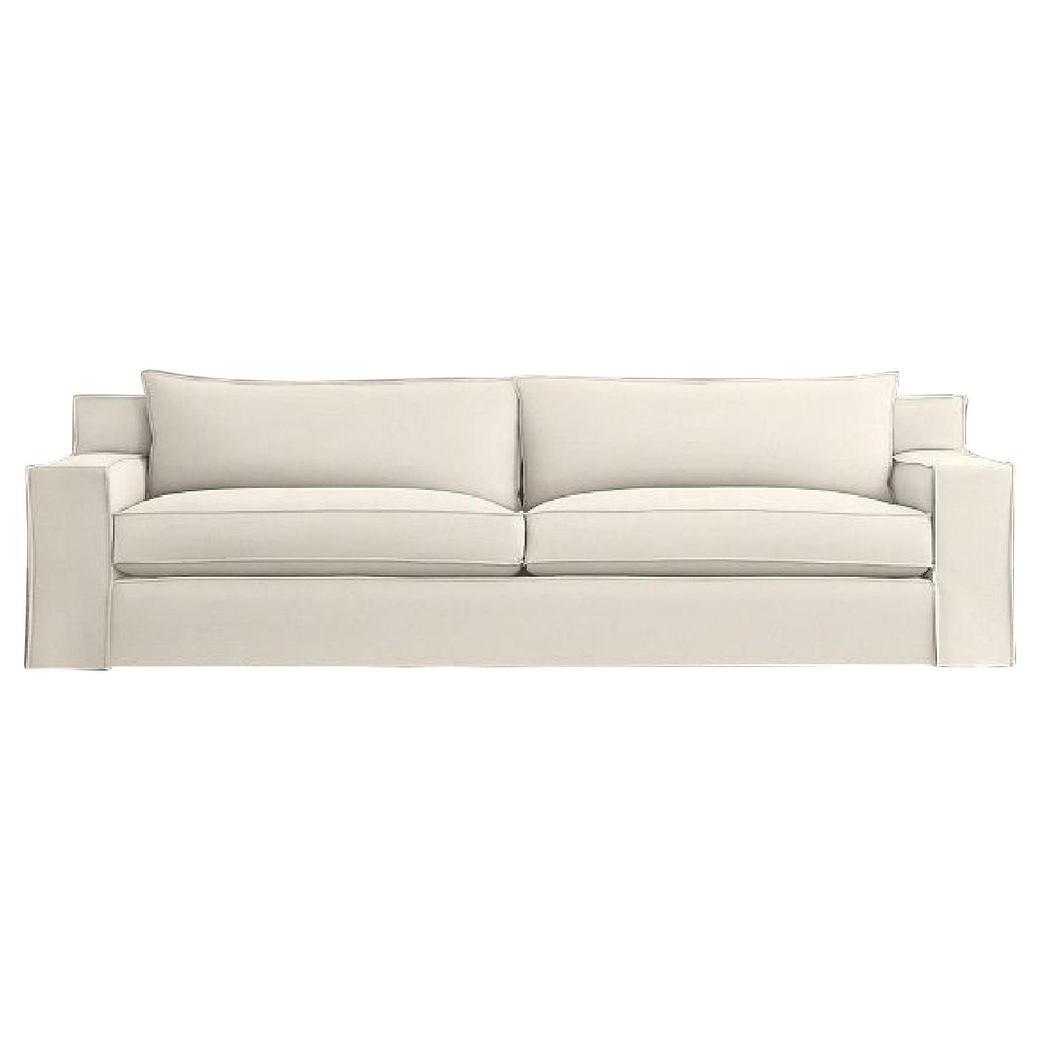 Groovy Restoration Hardware Modern White Slipcovered Sofa Aptdeco Alphanode Cool Chair Designs And Ideas Alphanodeonline