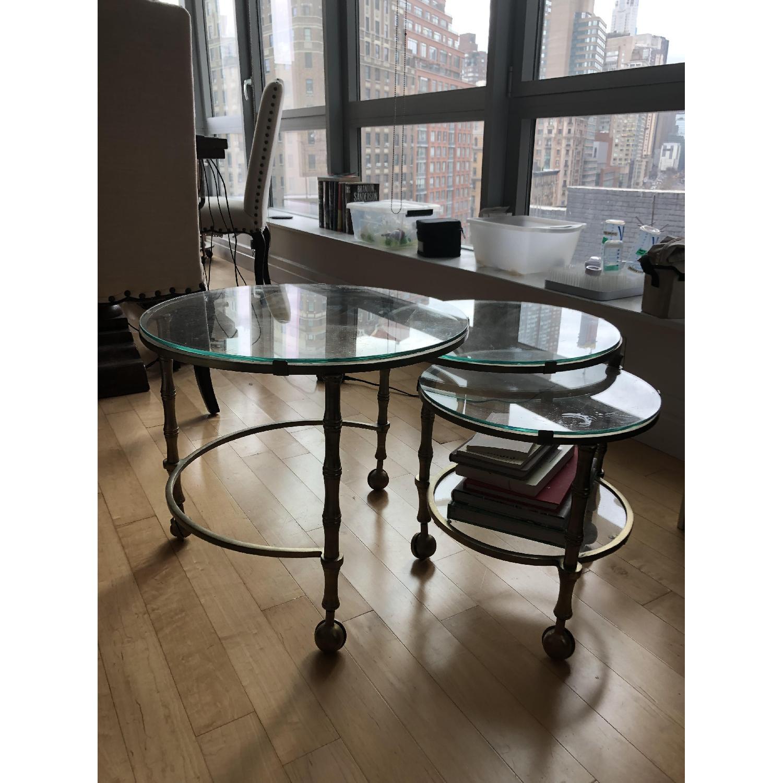 Pottery Barn Nesting Glass Coffee Table-0