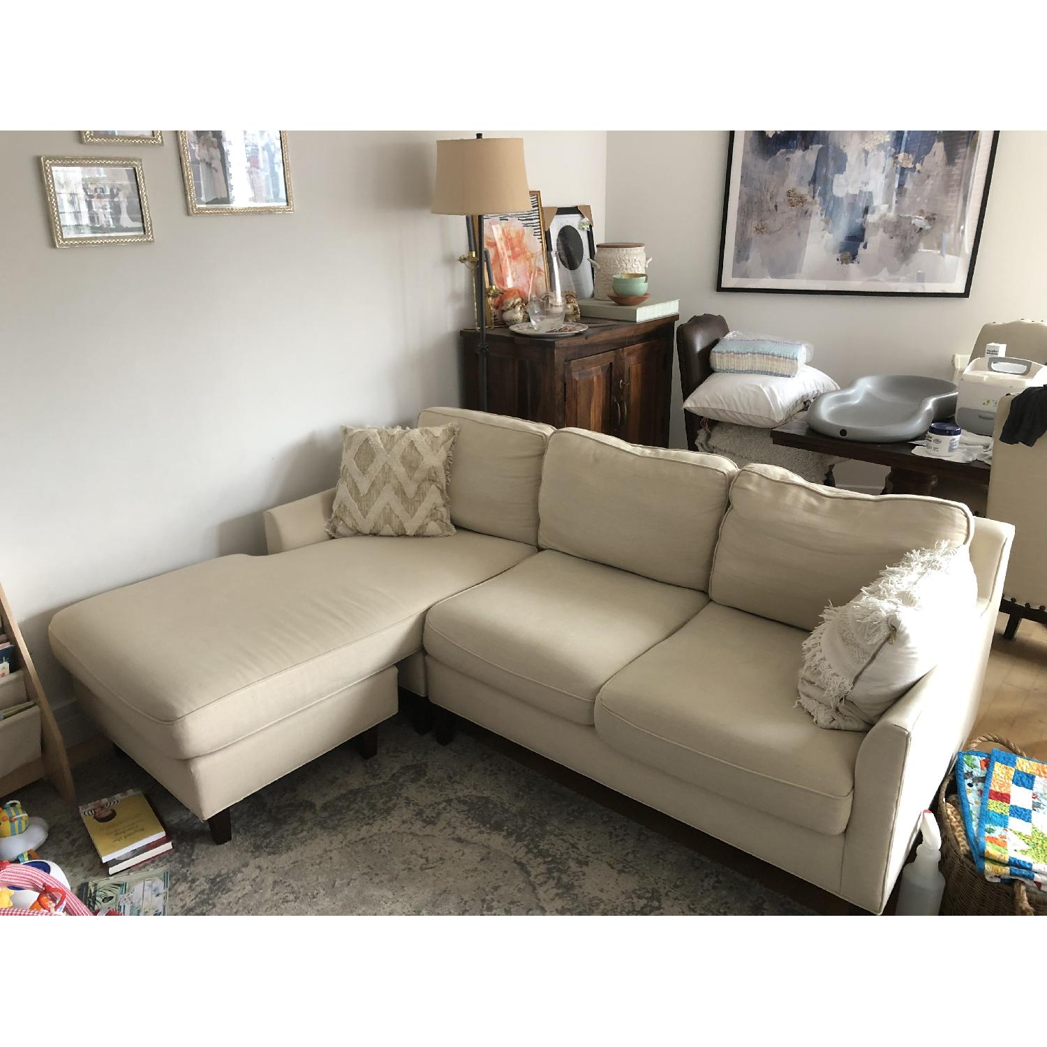 Pottery Barn Beverly Sectional Sofa w/ Chaise-0