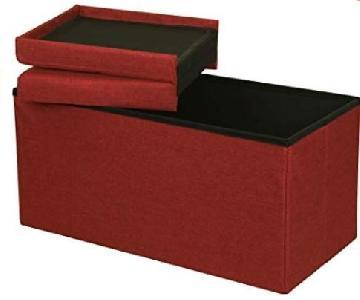 Red Ottoman w/ Storage