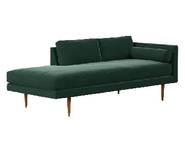 West Elm Monroe Mid-Century Chaise Lounger
