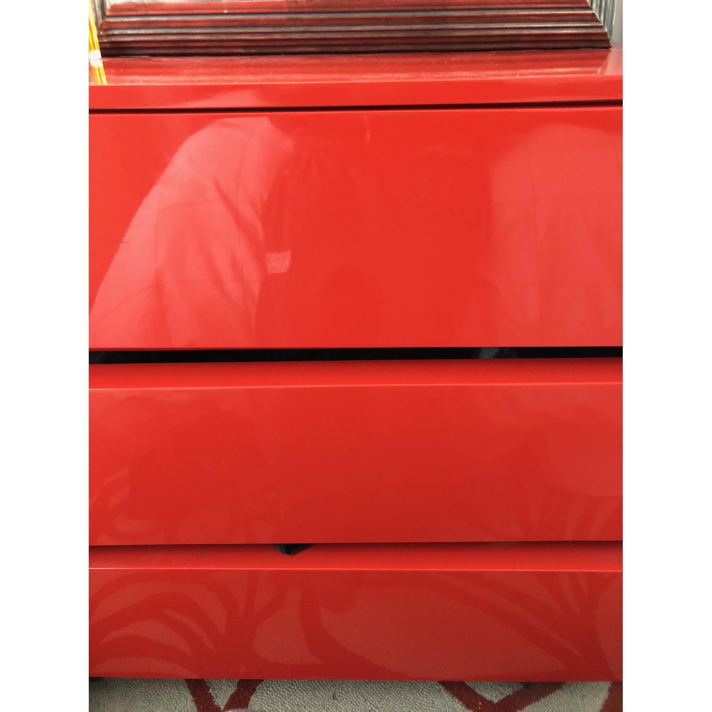 CB2 Lobster Red Modern 3 Drawer Chest-3