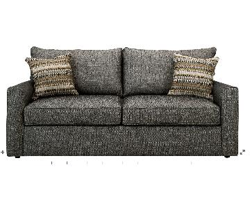 Raymour & Flanigan Grey Full Sleeper Sofa w/ Throw Pillows