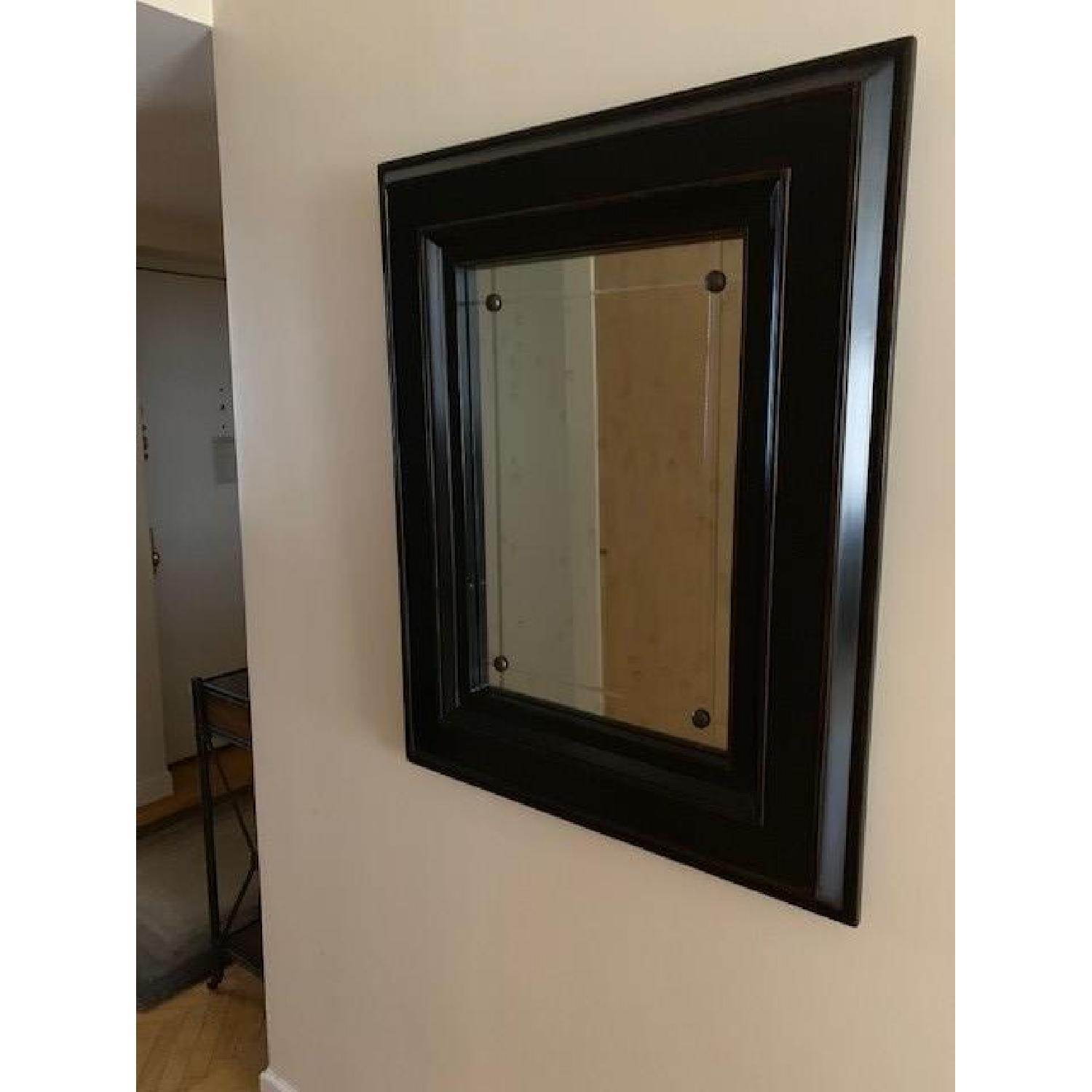 Black Wood Frame Mirror-0