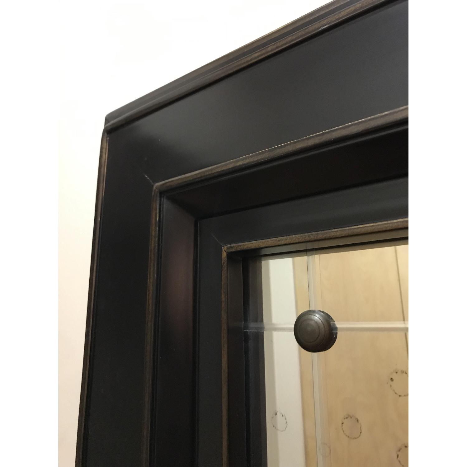 Black Wood Frame Mirror-1