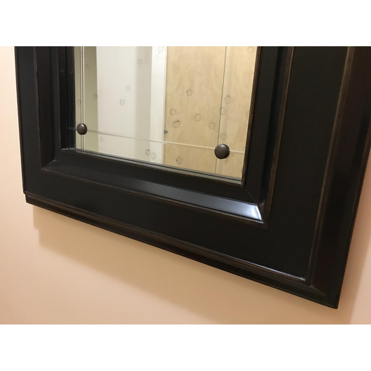 Black Wood Frame Mirror-2