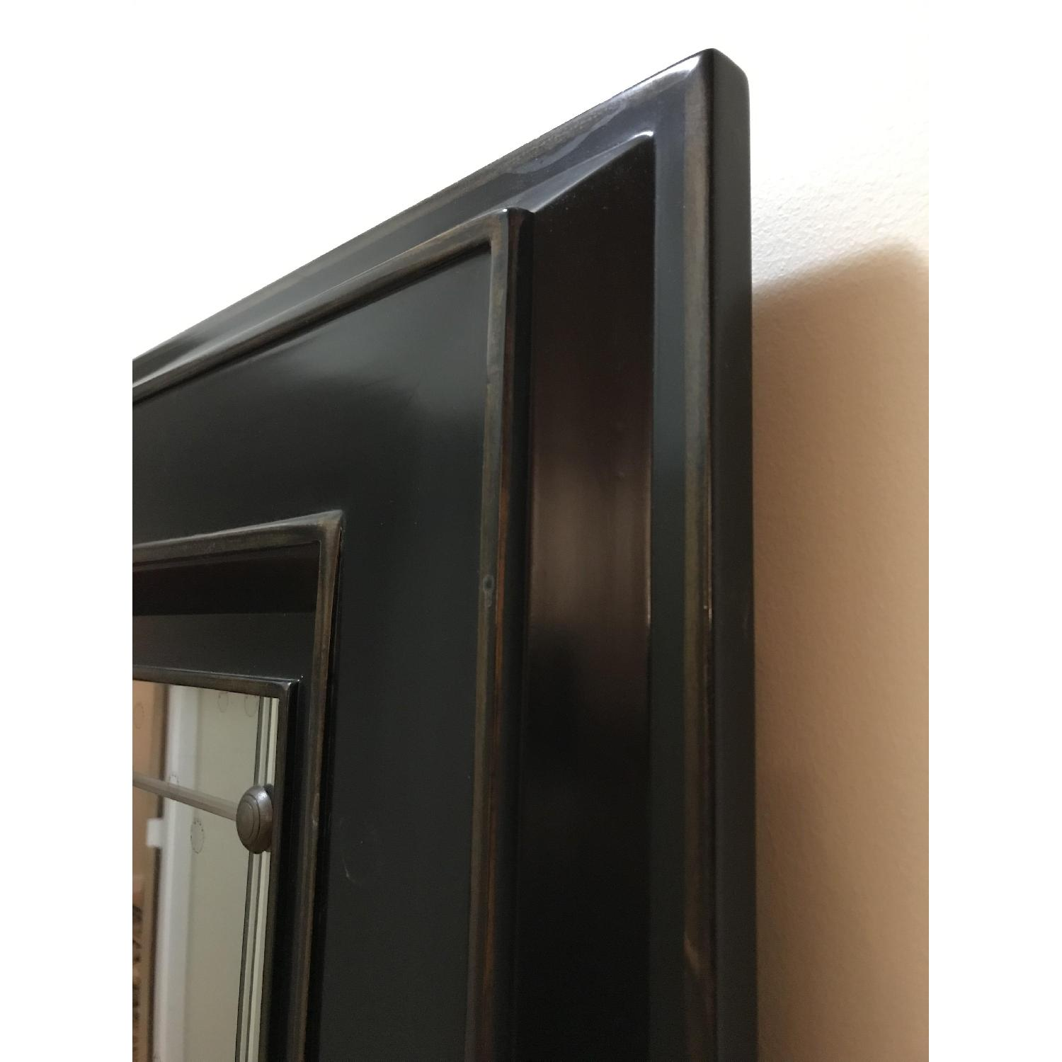 Black Wood Frame Mirror-3