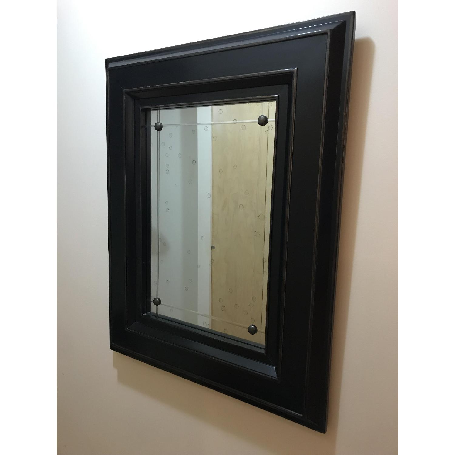 Black Wood Frame Mirror-4