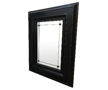 Black Wood Frame Mirror