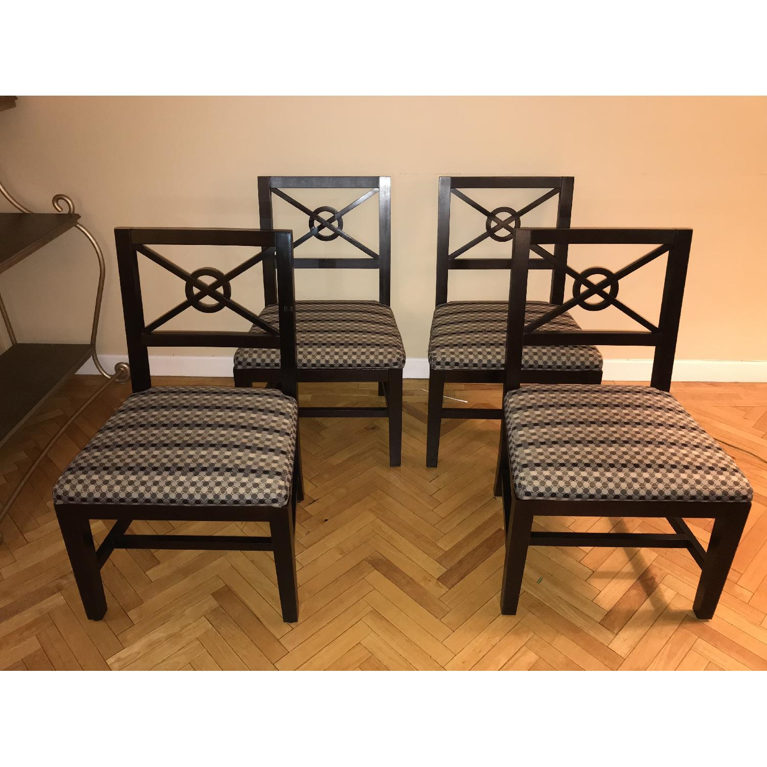 Wooden Chairs w/ Modern Upholstery-1