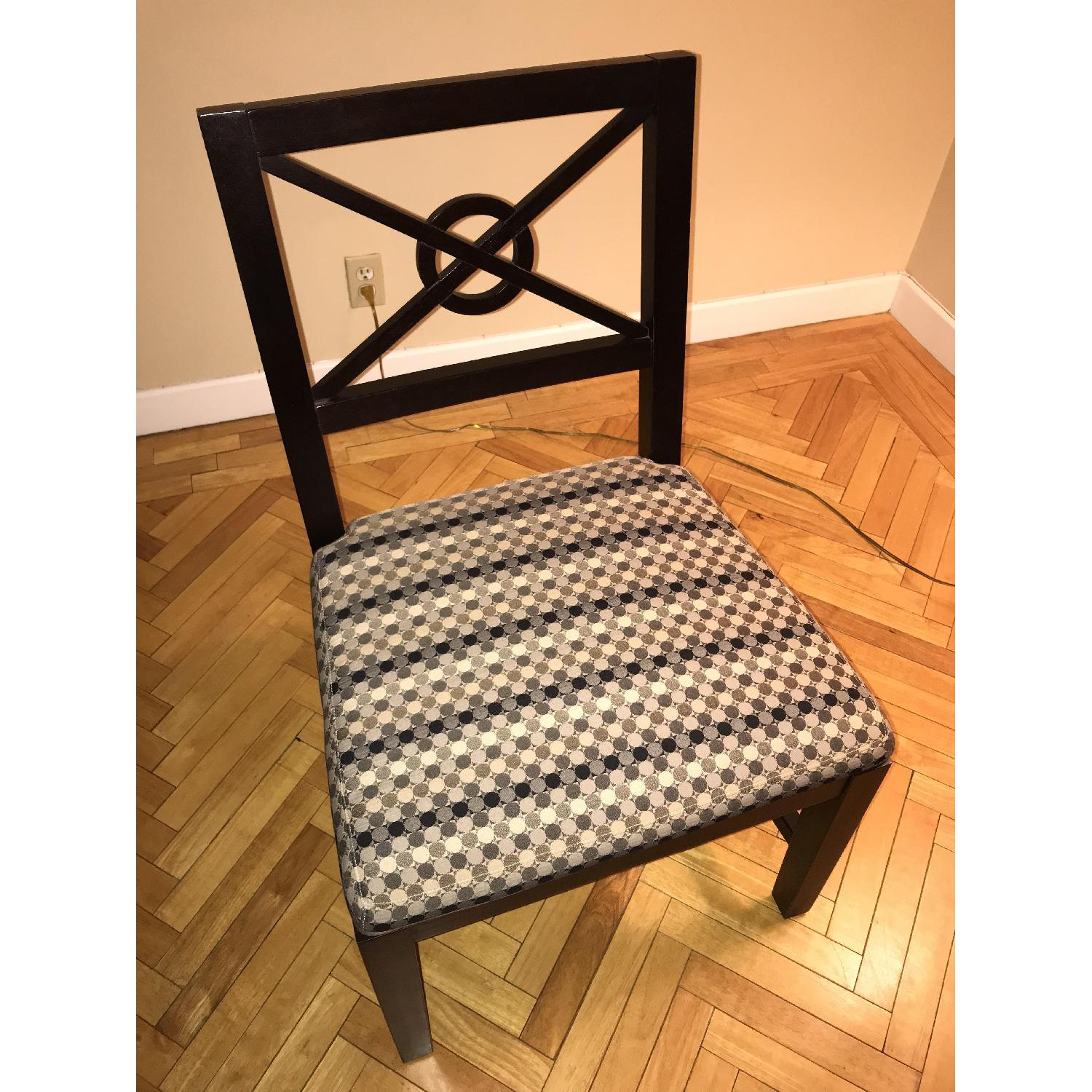 Wooden Chairs w/ Modern Upholstery-2