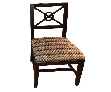 Wooden Chairs w/ Modern Upholstery