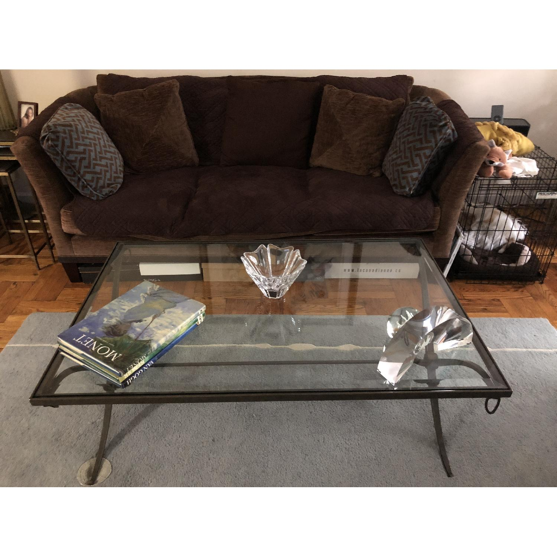 Baker Furniture Glass & Metal Coffee Table-0