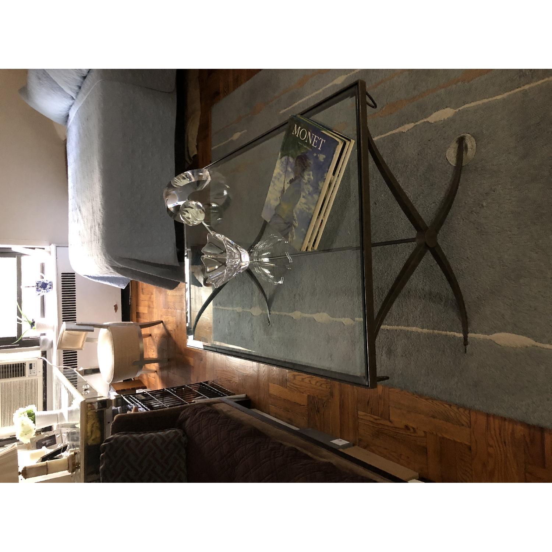 Baker Furniture Glass & Metal Coffee Table-1